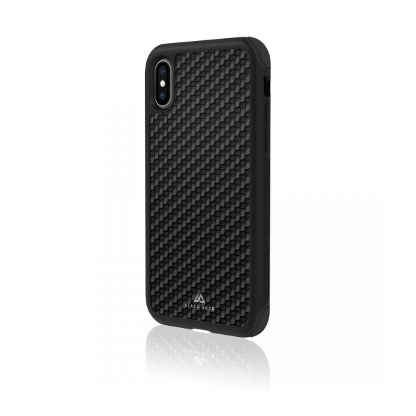 Etui-do-iPhone-XS-Robust-Real-Carbon-czarne-Black-Rock