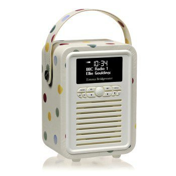 Retro mini dab+ radio emma bridgewater polka dot