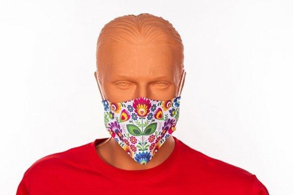 Maseczka kolorowa na twarz - streetwear