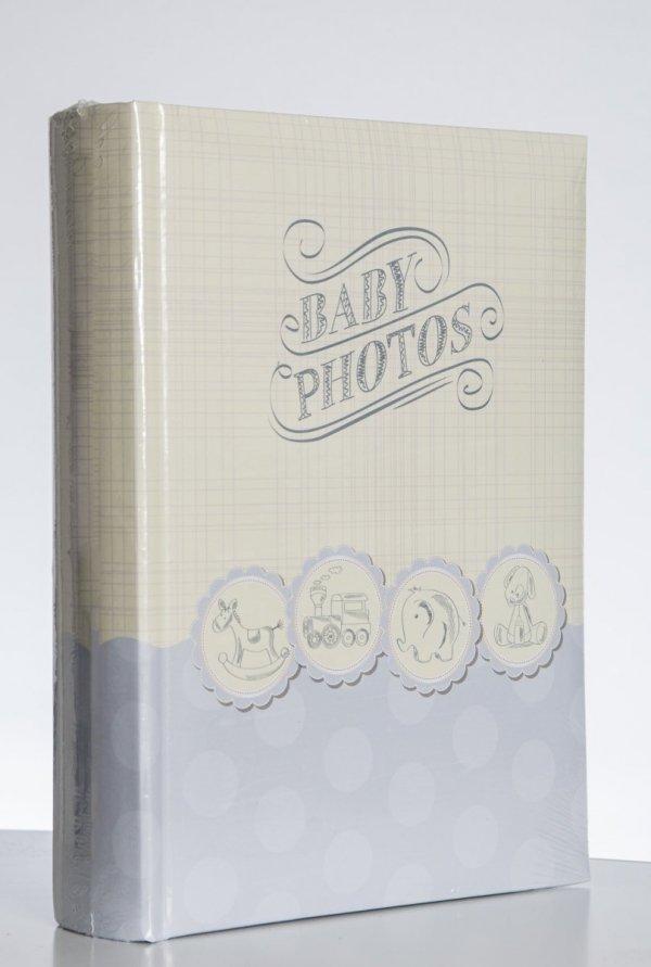 Album 10x15 na 200 zdjęć z opisem - niebieski dla chłopca