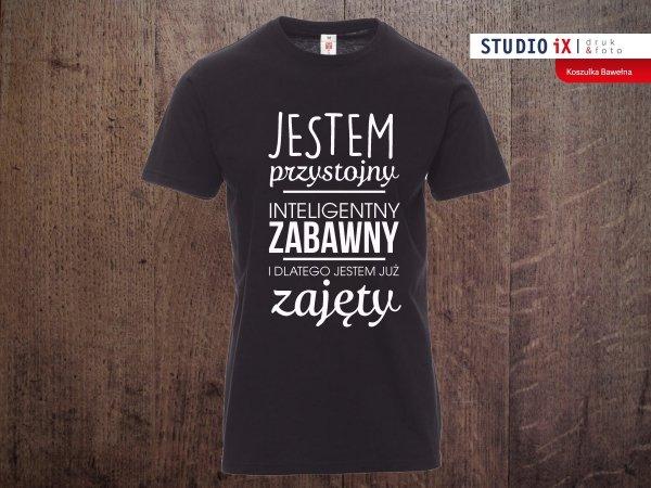 Koszulka-czarna-Jestem-przystojny-Crazyfotopl
