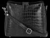 Kožená Kabelka listonoška Vittoria Gotti s motivem aligátora Černá