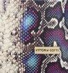 Vittoria Gotti Made in Italy Modny Shopper XL z motywem węża Fiolet
