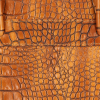 Vittoria Gotti Klasyczne Torebki Skórzane we wzór Aligatora Aktówka A4 Ruda