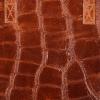 Vittoria Gotti Klasyczna Torebka Skórzana w modny motyw żółwia Brązowa