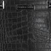 Klasyczna Torebka Skórzana w motyw aligatora firmy Vittoria Gotti Czarna