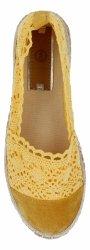 Żółte modne espadryle damskie firmy Lady Glory