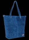 Uniwersalna Torebka Skórzana Shopper Bag firmy Vittoria Gotti Jeansowa