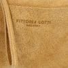 Vittoria Gotti Praktyczna Firmowa Listonoszka Skórzana / Kopertówka Made in Italy Jasno Ruda