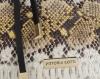 Vittoria Gotti Firmowa Torebka Skórzana Ekskluzywny Shopper Made in Italy w modny wzór kolorowego węża Ruda