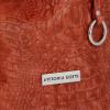 Firmowa Torba Skórzana Vittoria Gotti Made in Italy w rozmiarze XL motyw Aligatora Ceglasta