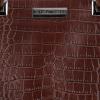Klasyczna Torebka Skórzana w motyw aligatora firmy Vittoria Gotti Brązowa