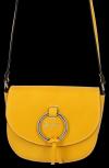 Elegancka Torebka Skórzana Listonoszka firmy Vittoria Gotti Made in Italy Żółta
