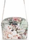 Vittoria Gotti Włoska Listonoszka Skórzana w modny wzór Kwiatów Beżowa