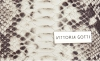 Vittoria Gotti Firmowa Listonoszka Skórzana Made in Italy w modny wzór Węża Beżowa