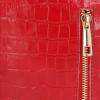 Eleganckie Torebki Skórzane Listonoszki firmy Vittoria Gotti w motyw Aligatora Czerwona