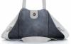 Vittoria Gotti Firmowy Shopper Made in Italy z Kosmetyczką Jasno Szary