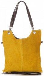 Univerzální Kožené kabelky žlutá