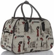 Velká cestovní taška kufřík Or&Mi London Multicolor - béžová