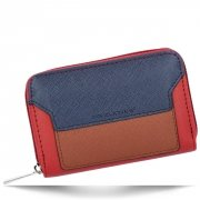 Módní Dámská Peněženka David Jones Červená/Tmavě modrá