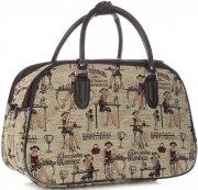 Velká cestovní taška kufřík Or&Mi Chocolatier Multicolor - béžová