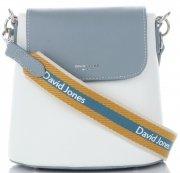 Módní Kabelky listonošky David Jones Světle modrá/Bílá