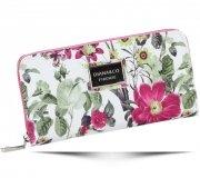 Módní Dámská peněženka Diana&Co Firenze květinový vzor Fuscia
