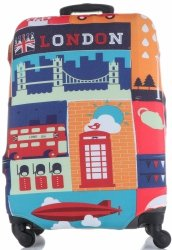 Obal na kufr Snowball L size London vícebarevný oranžová