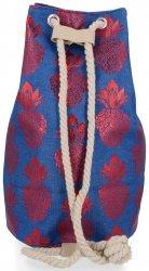 Módní Dámské Batohy vzor v ananasu Modrý a červený
