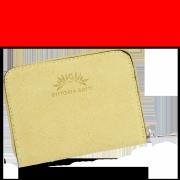 Vittoria Gotti Dámská Kožená Peněženka Made in Italy Žlutá