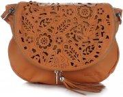 Vittoria Gotti Dámská kožená kabelka listonoška – vysoká kvalita zrzavá