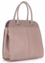 Elegantní Dámská kabelka kufřík David Jones růžová