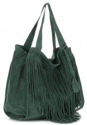 Dámské kabelky Vittoria Gotti Univerzální XL Boho Tmavě Zelená