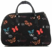 Velká cestovní taška kufřík Or&Mi vzor v motýlech Multicolor - černá