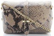 Kožená kabelka listonoška Vera Pelle Khaki