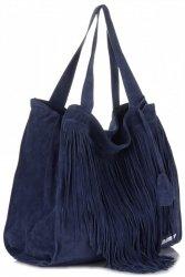 Dámské kabelky Vittoria Gotti Univerzální XL Boho Tmavě Modrá
