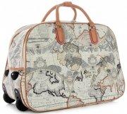 Cestovní taška na kolečkách s výsuvnou rukojetí World Or&Mi Multicolor Bílá