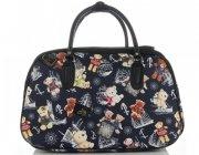 Průměrná cestovní taška kufřík Or&Mi medvědi Multicolor - Tmavě modrá