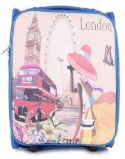 Palubní kufřík italské firmy Or&Mi 2 kolečka Modrá London