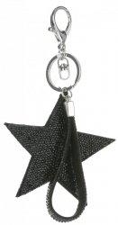 Dvoustranný Přívěšek ke kabelce Stars se zirkony černá