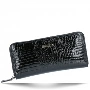 Lorenti Elegantní Dámská Kožená Peněženka s motivem aligátora Černá