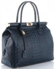 Kožené kabelky kufříky XL vzor Aligátor Genuine Leather mořská