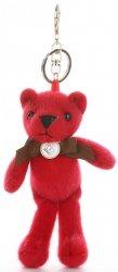 Přívěšek ke kabelce Elegantní medvídek s mašličkou červený