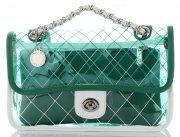 Transparentní  Kabelky Listonošky Diana&Co Zelená