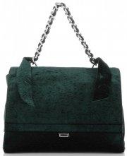 Elegantní Dámská kabelka kufřík Diana&Co lahvově zelená