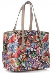 Dámská kabelka kožená kufřík VIttoria Gotti Multicolor Šedá