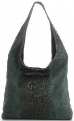 Kožené kabelky Aligator Lahvově Zelená