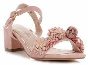 Modní Dámské Sandály na podpatku Lady Glory Práškové Růžové