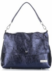 Elegantní kožené kabelky Vittoria Gotti Tmavě Modrá