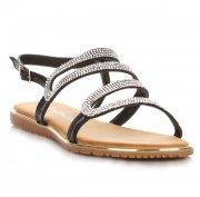 Elegantní dámské sandály černé